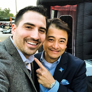 Kyle Handy with Agent Tom Truong